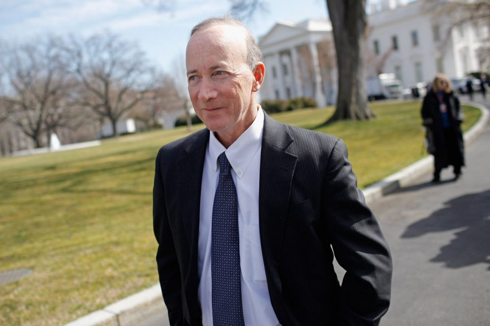Indiana Gov. Mitch Daniels leaves the White House after a meeting of the National Governors Association with President Barack Obama February 27, 2012 in Washington, D.C. Daniels is now president of Purdue University. (Chip Somodevilla/Getty Images)