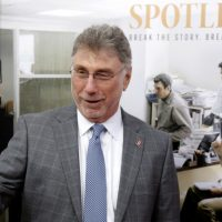 "Marty Baron: ""Many charitable nonprofits... get a pass on close examinations because they are seen as doing good. And many do good, but that shouldn't exempt them from accountability."" Pictured: Baron, former editor of The Boston Globe, walks the red carpet as he attends the Boston-area premiere of the film ""Spotlight."" (Steven Senne/AP)"