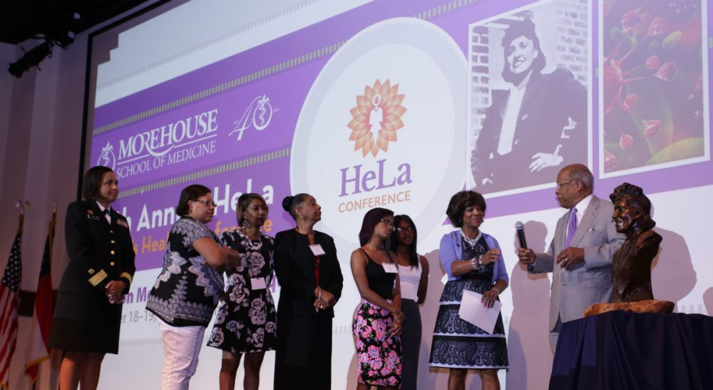 Is devotion to consent and privacy devaluing equity among governing principles for medical research? In this photo, the descendants of Henrietta Lacks, and others, unveil a bust in honor of the donor of the immortal HeLa cells at the Morehouse School of Medicine. (AP)