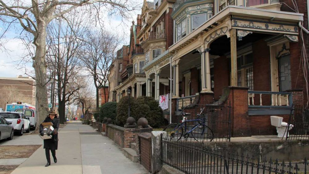 Homes like these on Spruce Street in University City have seen a rapid increase in rents and property taxes. (NewsWorks file photo)
