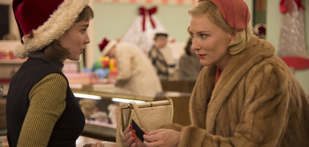 "Rooney Mara and Cate Blanchett in Todd Haynes' ""Carol."" (Courtesy The Weinstein Company)"