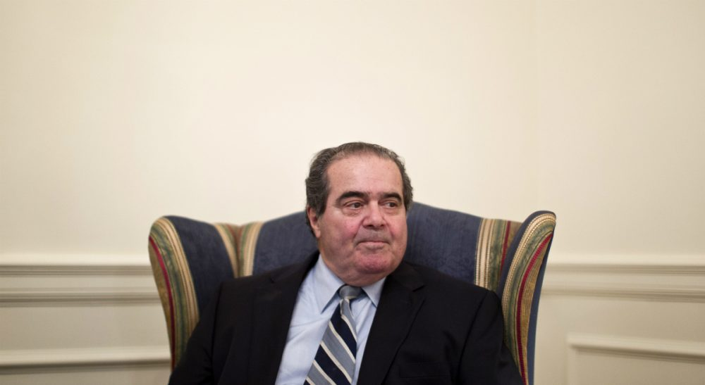 Supreme Court Justice Antonin Scalia is pictured on July 26, 2012, at the Supreme Court in Washington. (Haraz N. Ghanbari/AP)