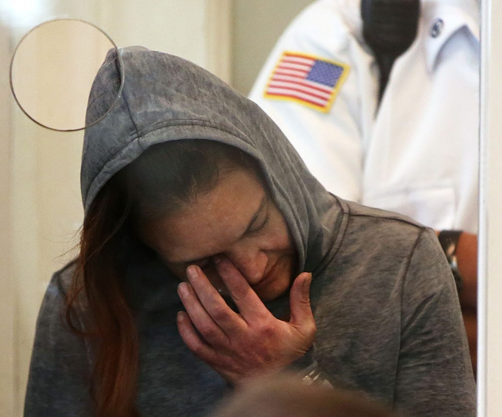 Rachelle Dee Bond is arraigned for allegedly helping to dispose of the body of her daughter, the girl dubbed Baby Doe, on Sept. 21, 2015. (Pat Greenhouse/The Boston Globe via AP Pool)