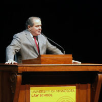 In this file photo, U.S. Supreme Court Justice Antonin Scalia  speaks at the University of Minnesota as part of the law school's Stein Lecture series, Tuesday, Oct. 20, 2015, in Minneapolis. Scalia passed away on February 13, 2016. (AP Photo/Jim Mone)