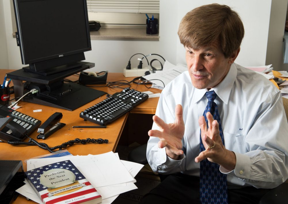 Allan Lichtman, is pictured in his office at American University in Washington, D.C., April 13, 2012. (Paul J. Richards/AFP/Getty Images)