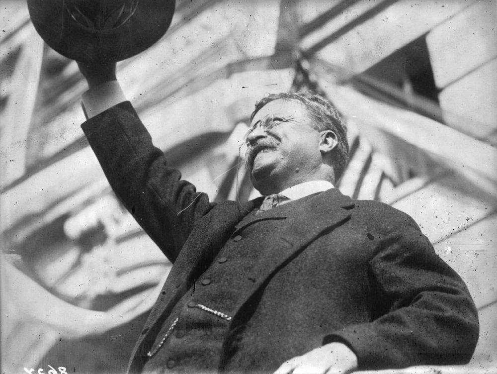 America's youngest president, Theodore Roosevelt (1858 - 1919), who succeeded William McKinley after his assassination. Roosevelt was a popular leader and the first American to receive the Nobel Peace Prize, which was awarded for his mediation in the Russo-Japanese war.  (Photo by Topical Press Agency/Getty Images)