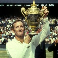 Laver won the Wimbledon men's single's event four times between 1961-1969. (Allsport UK /Allsport