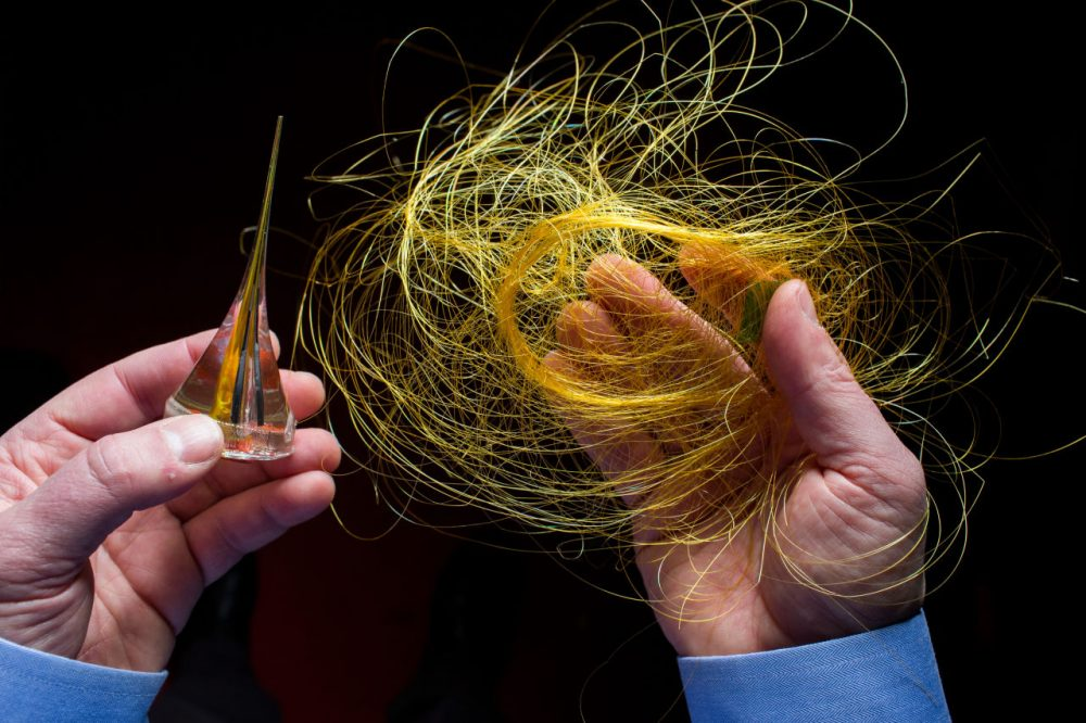 "MIT's Yoel Fink says the goal of the institute is ""to go and change everywhere a fiber goes and everywhere there's fabric."" (Courtesy Massachusetts Institute of Technology)"
