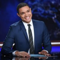 "FILE - In this Sept. 29, 2015 file photo, Trevor Noah appears during a taping of ""The Daily Show with Trevor Noah"" in New York. Noah replaced host Jon Stewart, who left the show in July. (Photo by Evan Agostini/Invision/AP, File)"