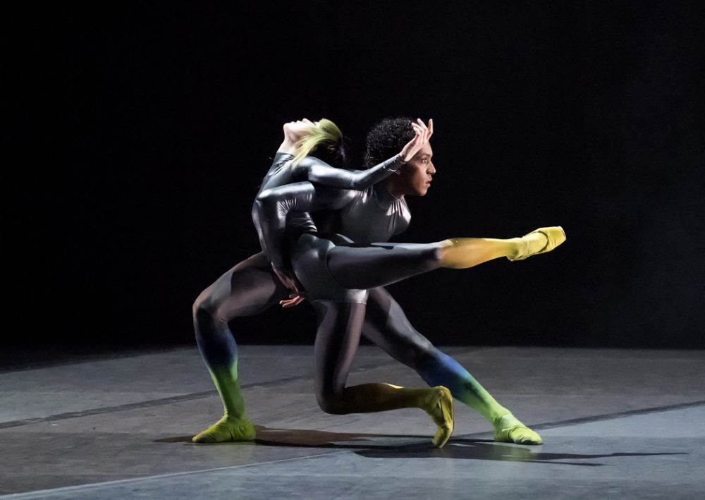 "Misa Kuranaga and Irlan Silva in Karole Armitage's ""Bitches Brew."" (Courtesy of Gene Schiavone/Boston Ballet)"