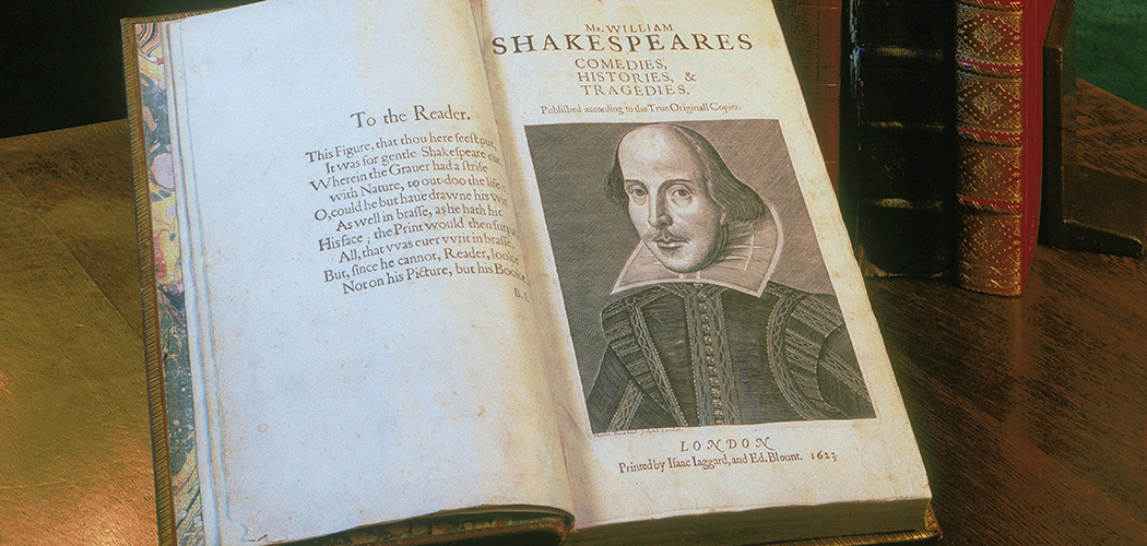 Shakespeare First Folio, 1623 (Courtesy of the Folger Shakespeare Library)