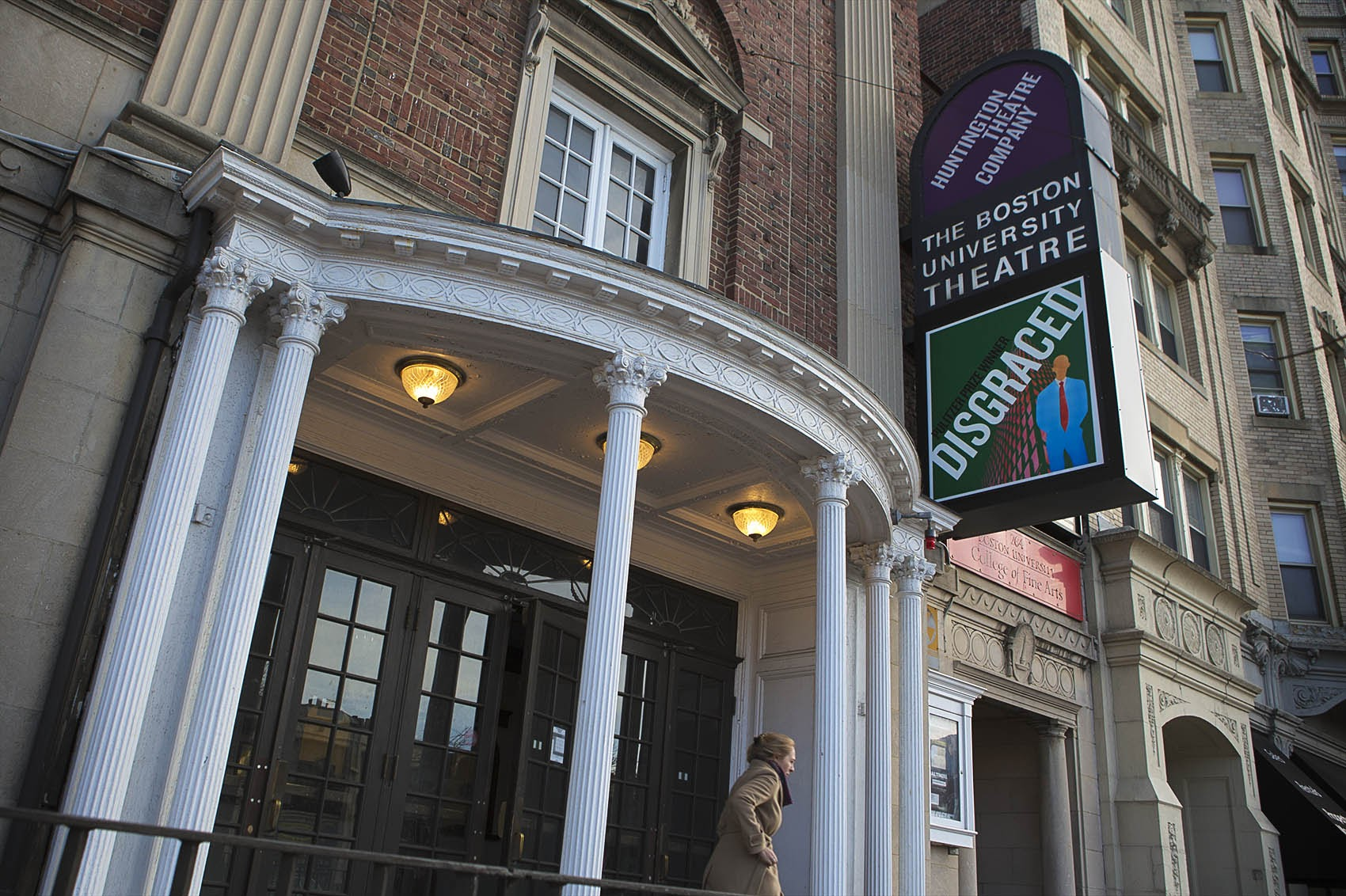 Huntington Theater Company on Huntington Avenue in Boston. (Jesse Costa/WBUR)