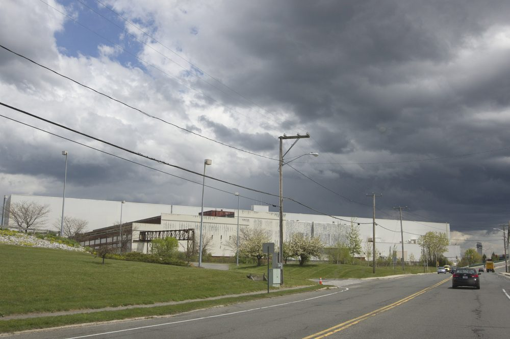 The former General Electric plant in Pittsfield (Joe Difazio/WBUR)