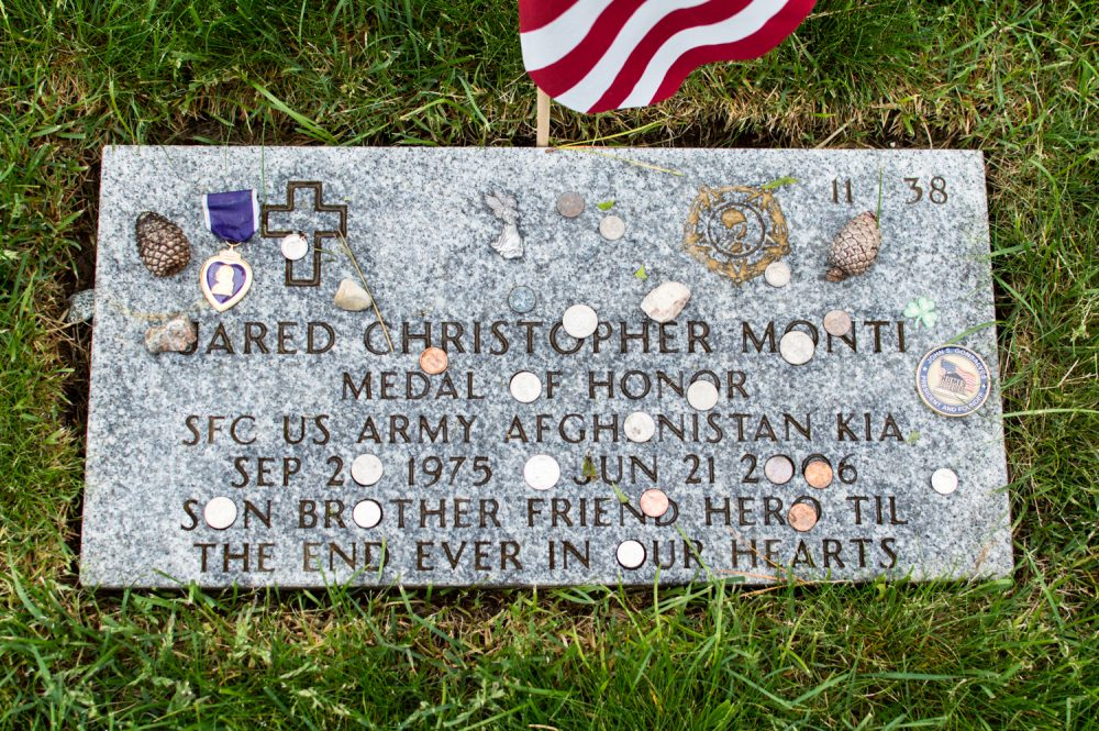 Jared Monti's grave at the Massachusetts National Cemetary on Cape Cod. (Courtesy/Casey Ashlock)