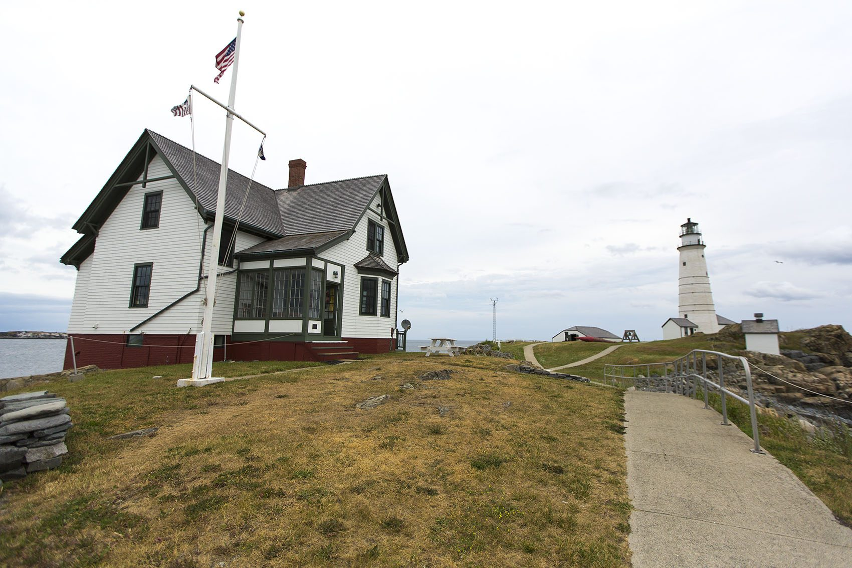 Cottage lighthouse lamp 3 colors - Boston Light Is Located On Little Brewster Island In Boston Harbor Jesse Costa