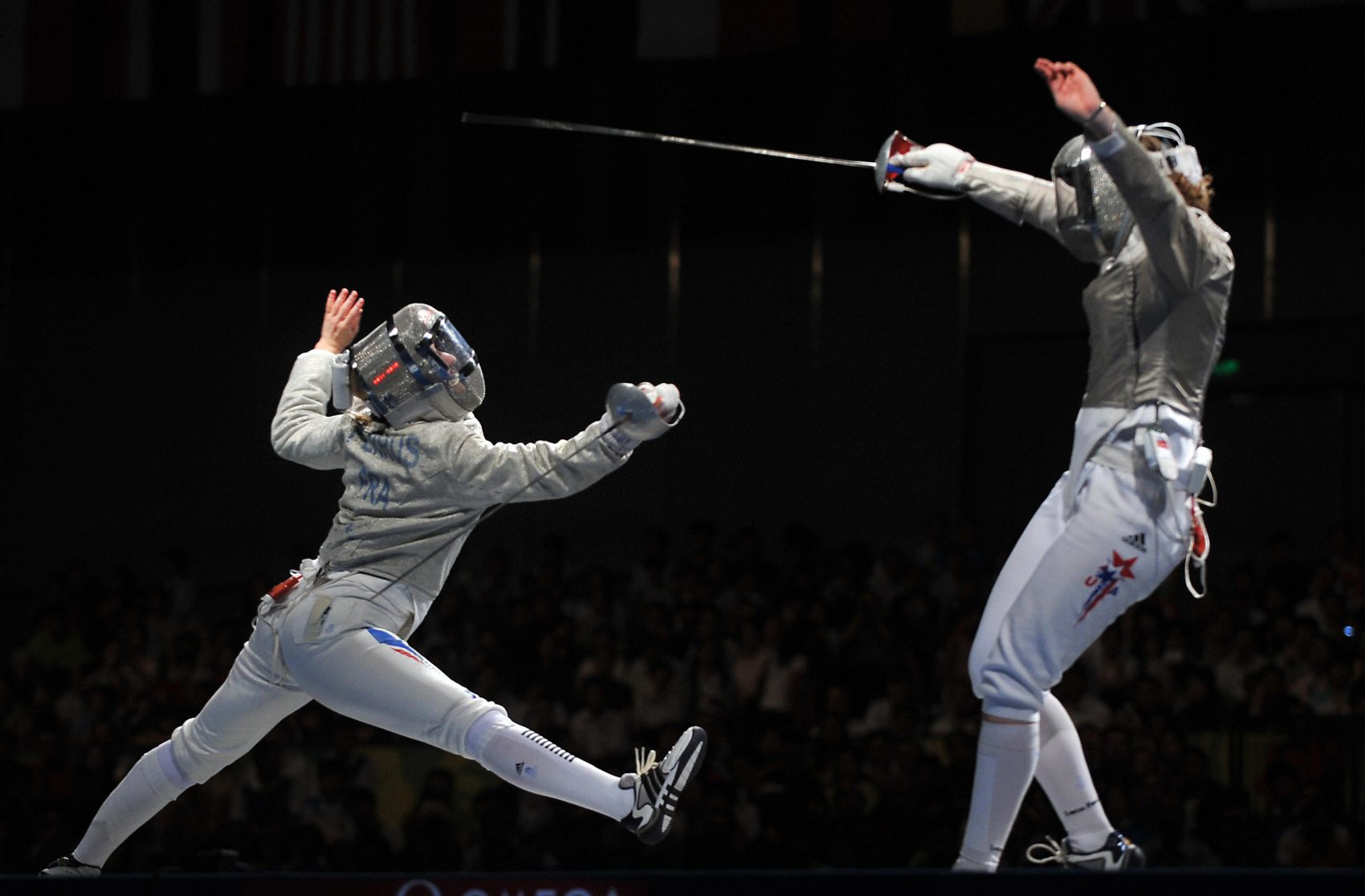 Sada Jacobson US saber fencer, ranked 1 in the world, Olympic silver