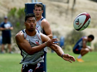 This year's U.S. sevens team will be looking look to defend their forefathers' title in over the next few weeks in Rio. (MARK RALSTON/AFP/Getty Images)
