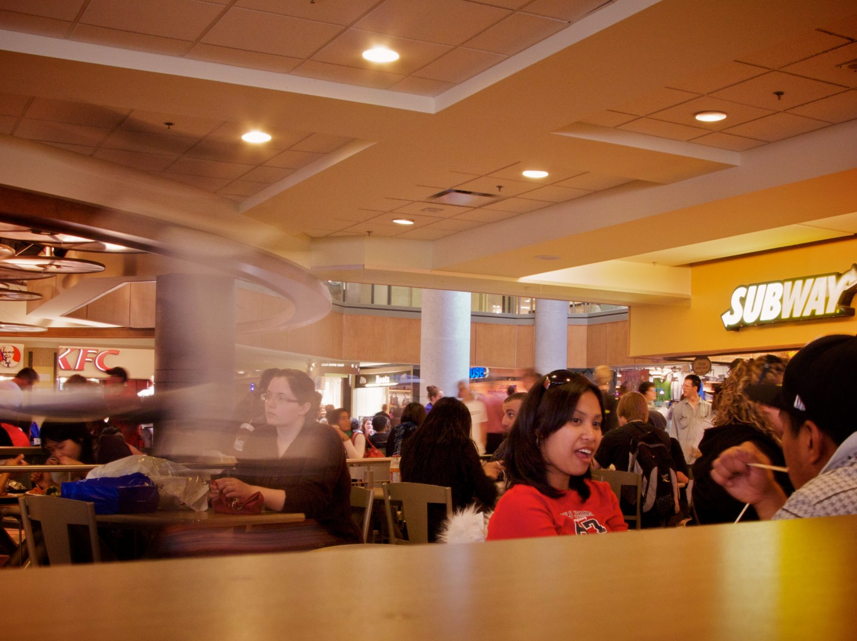 Curtis would scavenge for leftover food at the Rideau Centre food court in Ottawa. (Courtesy Darcy Quesnel)