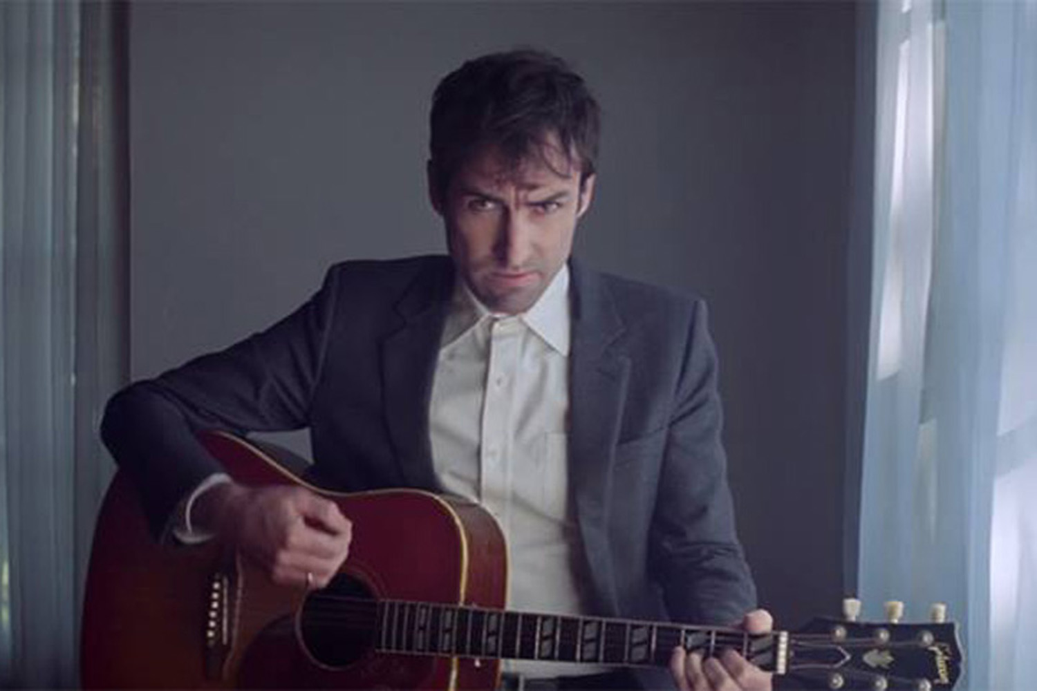"Singer-songwriter Andrew Bird, in a still from the video for his new single, ""Left-Handed Kisses."" (Courtesy Loma Vista Recordings)"