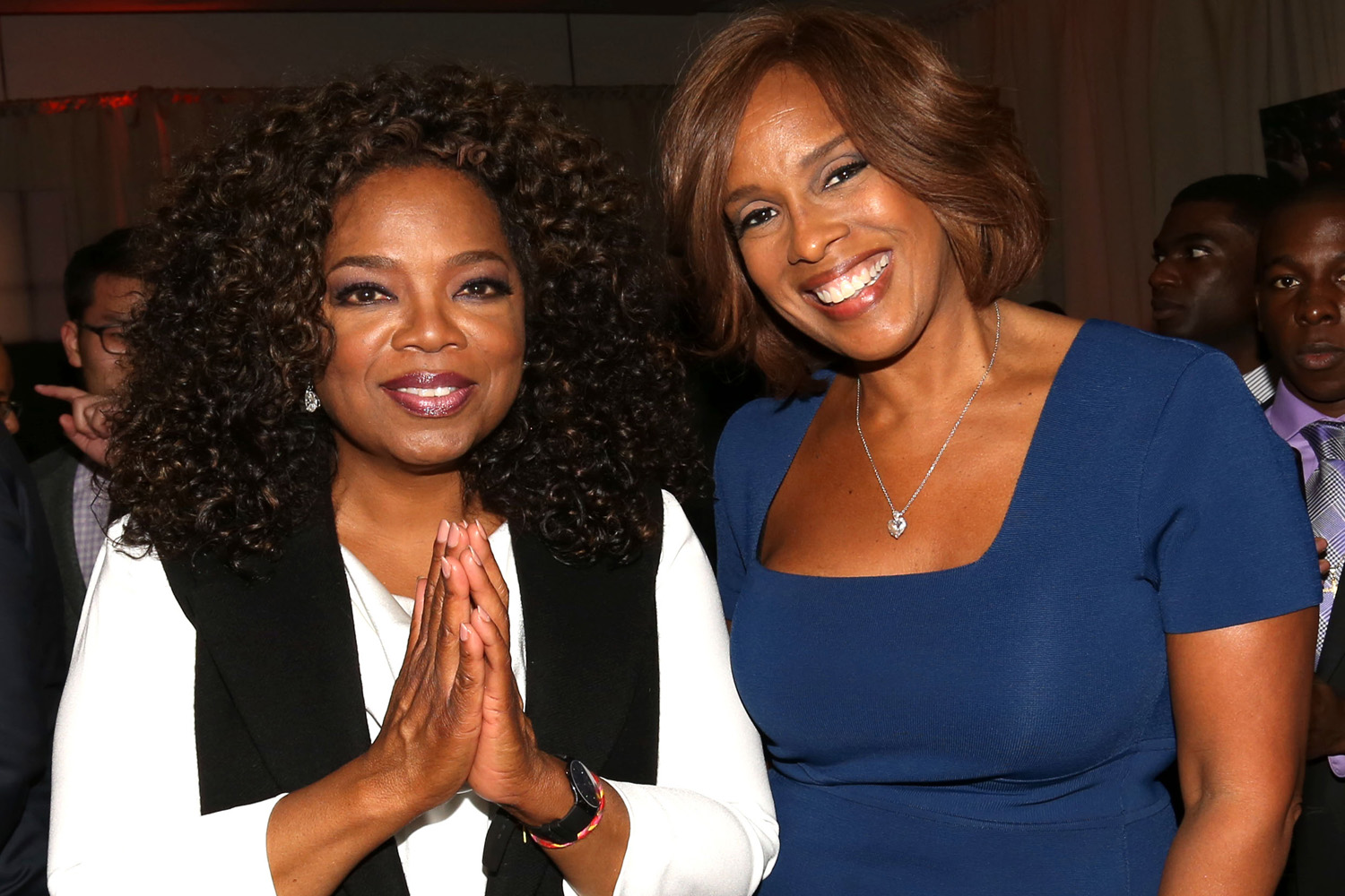 "In this file photo, Oprah Winfrey, left, and Gayle King attend the after-party for the premiere of the Oprah Winfrey Network's (OWN) documentary series ""Belief ."" (AP Images)"