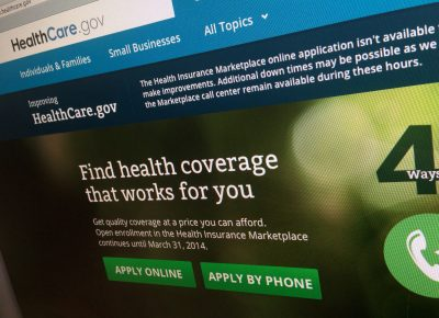 This photo shows part of the HealthCare.gov website, photographed Nov. 29, 2013 in Washington. The open enrollment for 2017 health insurance starts on Nov. 1. (Jon Elswick/AP)