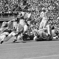 For most of his 12-year career, Tom Matte of the Baltimore Colts played running back. For three games in 1965, he was the emergency backup quarterback. (AP)