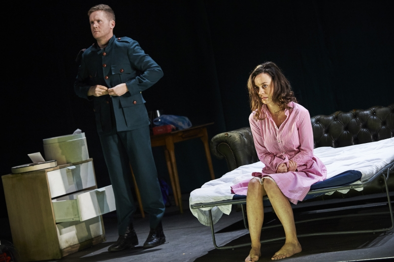 "Ian-Lloyd Anderson and Kate Stanley Brennan in Abbey Theatre's production of ""The Plough and the Stars"" at American Repertory Theater. (Courtesy Ros Kavanagh/American Repertory Theater)"