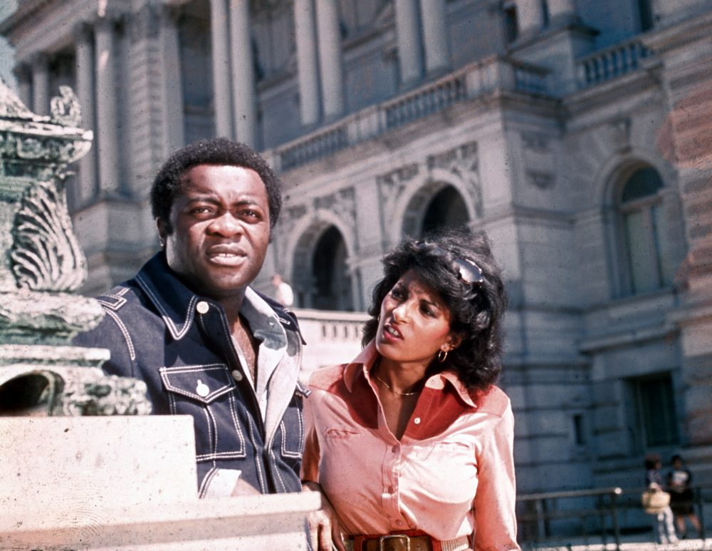 "Pam Grier and Yaphet Kotto in ""Friday Foster"" (1975). (Courtesy Harvard Film Archive)"