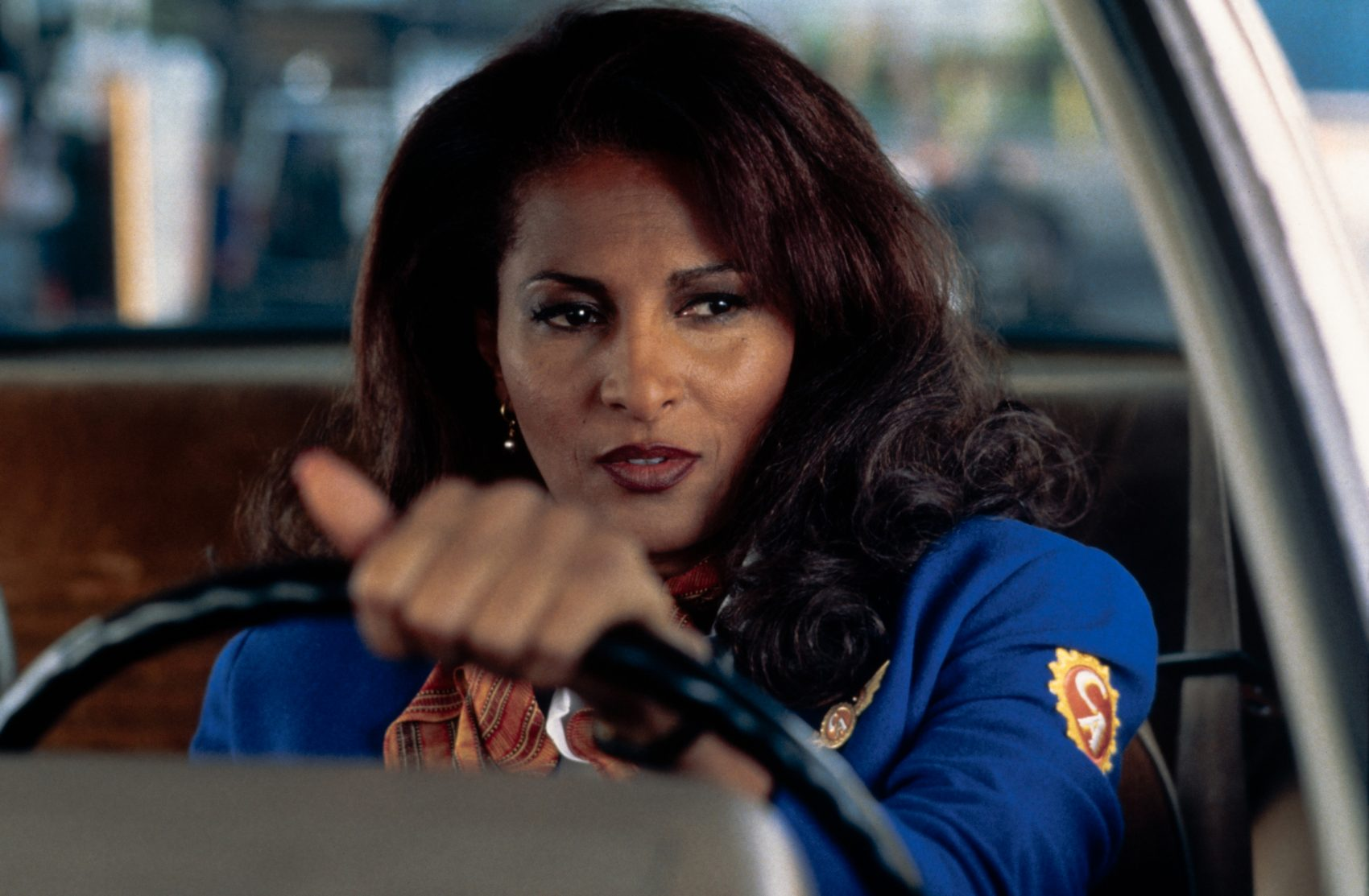 "Pam Grier in the 1997 film ""Jackie Brown."" (Courtesy Harvard Film Archive)"