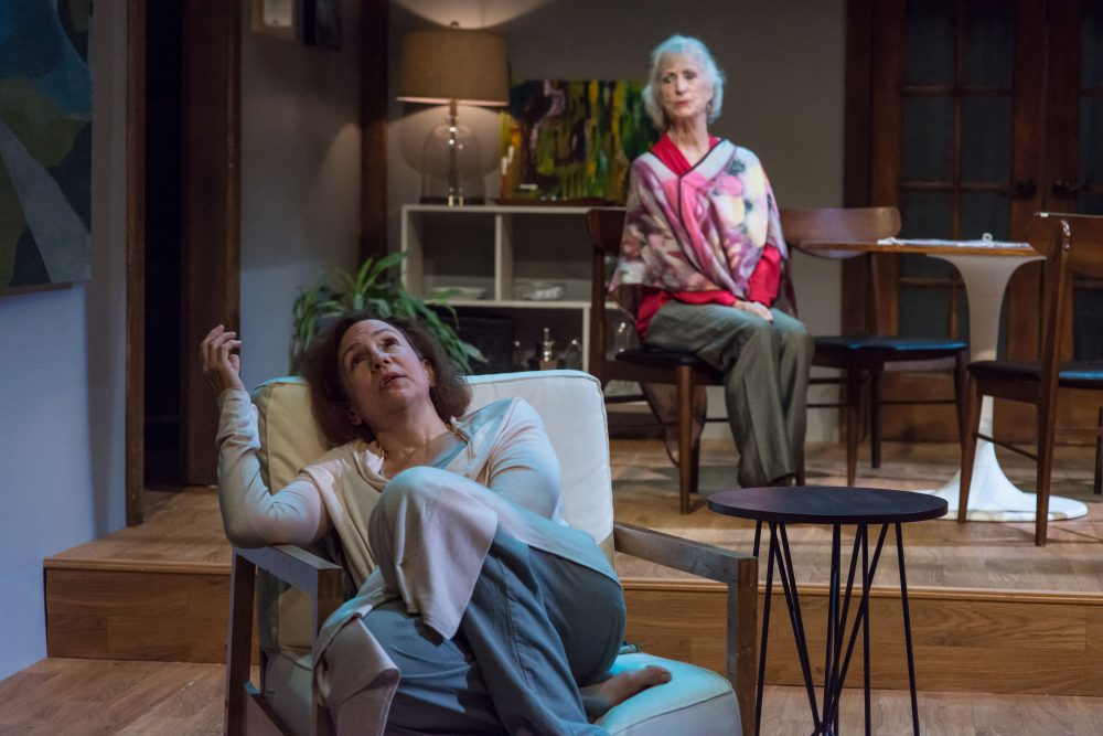 "Lee Mikeska Gardner and Sarah deLima in ""Marjorie Prime."" (Courtesy A.R. Sinclair Photography/Central Square Theater)"