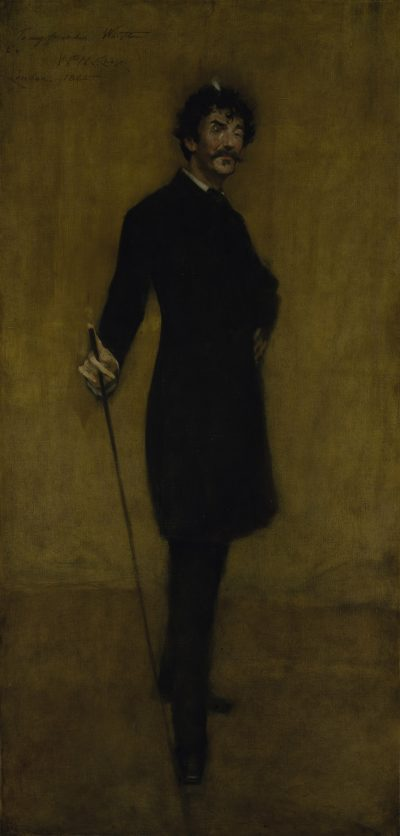 The 1885 portrait of James Abbott McNeill Whistler by William Merritt Chase. (Courtesy Museum of Fine Arts, Boston)