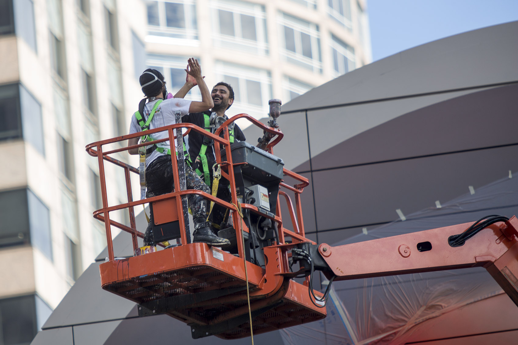 See the new greenway mural 39 spaces of hope 39 take shape for Dewey square mural