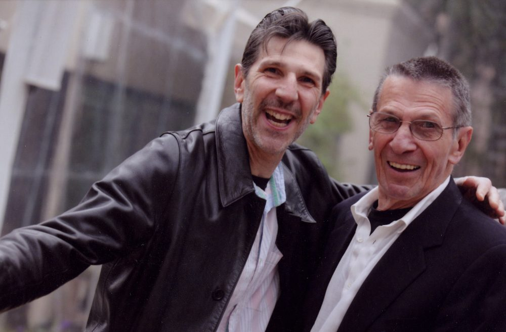 Richard Michelson and Leonard Nimoy. (Courtesy Silvia Mautner Photography)