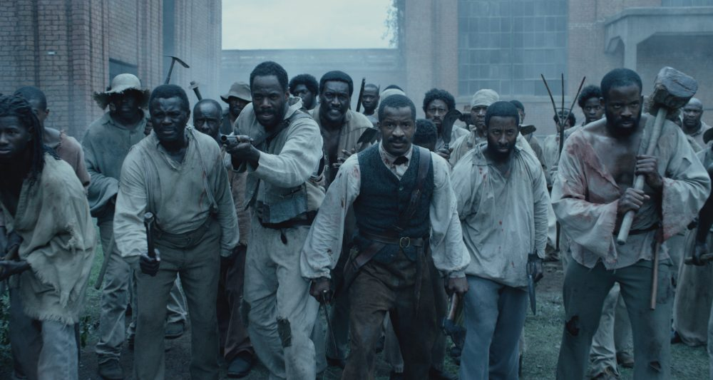 "From left to right: Colman Domingo as Hark, Nate Parker as Nat Turner and Chike Okonkwo as Will in ""The Birth of a Nation."" (Courtesy Fox Searchlight Pictures)"