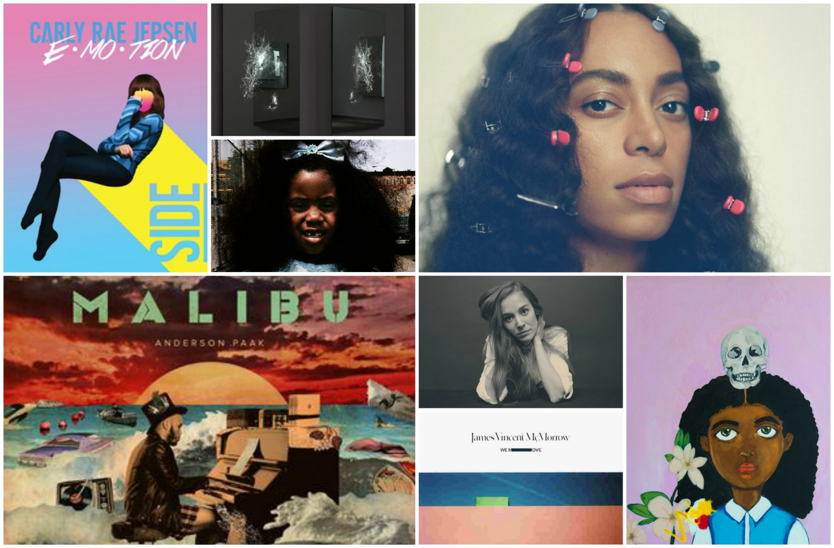 Music critic Amelia Mason runs through the year in music with her favorite albums. (Album art courtesy of the artists)