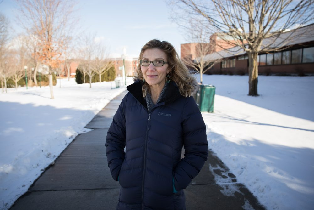 Castleton University assistant professor Emily Gleason teaches a course she designed to better illuminate people about the Syrian refugee crisis. (Ryan Caron King/NENC)