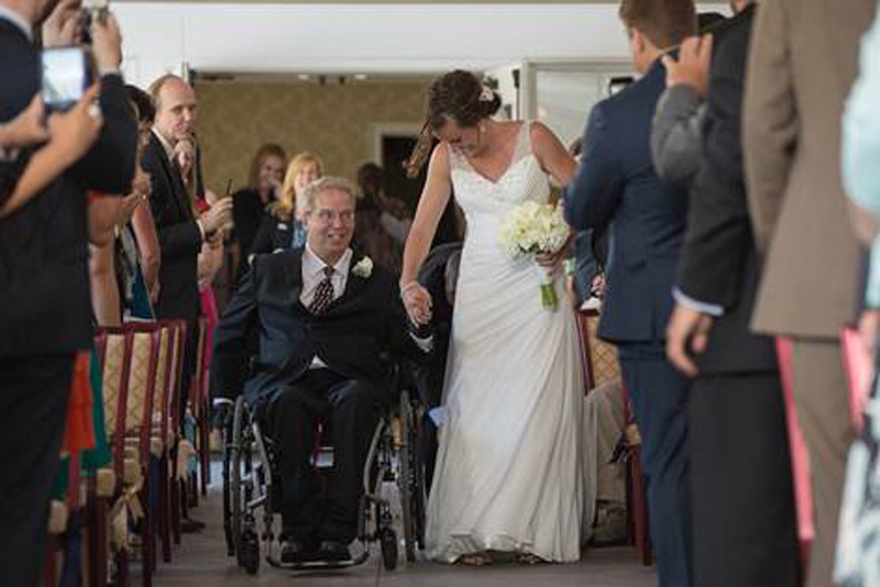 Brittany Déjean and her father, Paul Martin, at her wedding (Courtesy Daniel Fugaciu Photos)