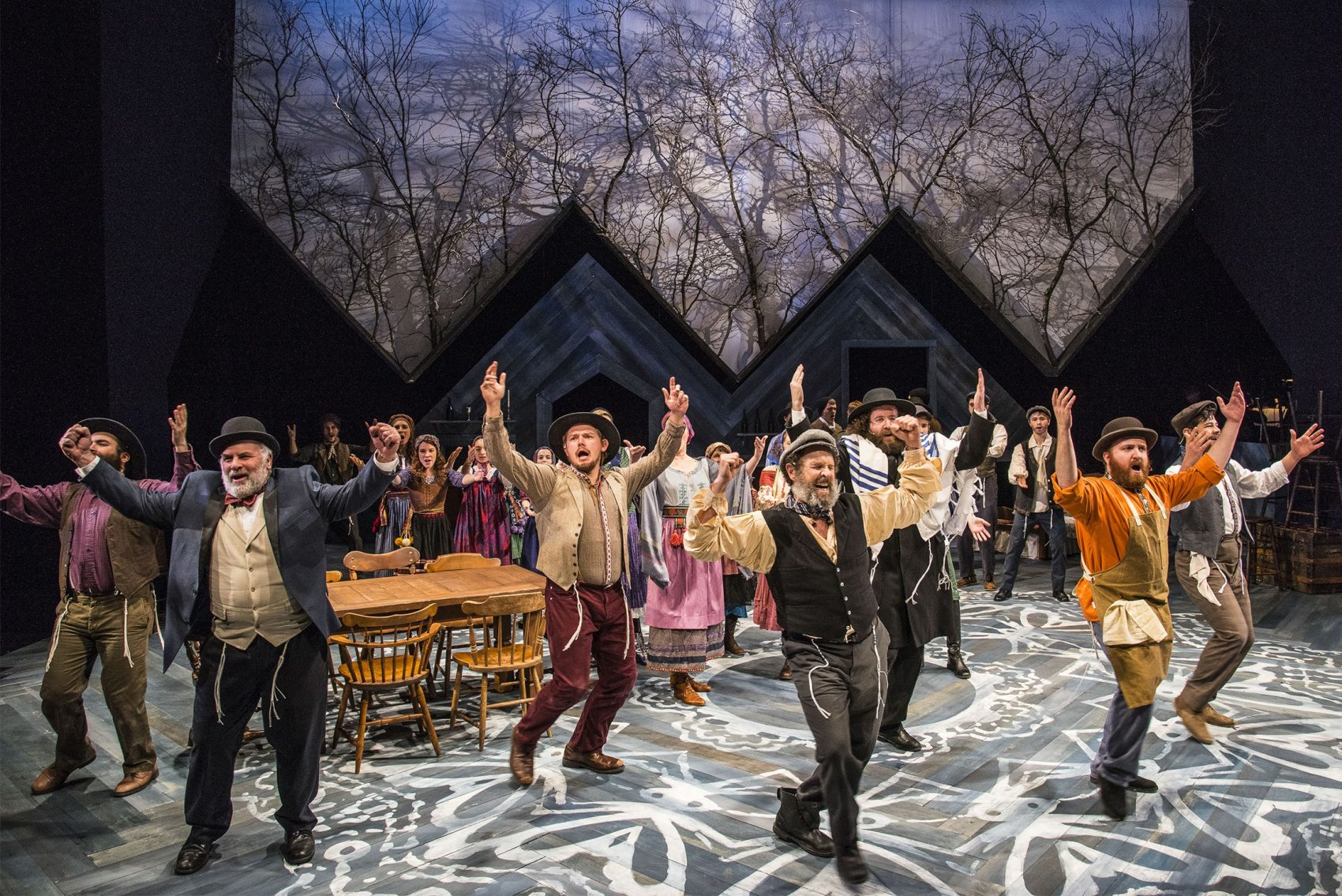 "The ensemble of ""Fiddler On The Roof"" at New Repertory Theatre. (Courtesy of Andrew Brilliant/New Rep)"