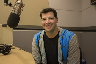 Rich Hill on his visit to WBUR. (Jesse Costa/WBUR)