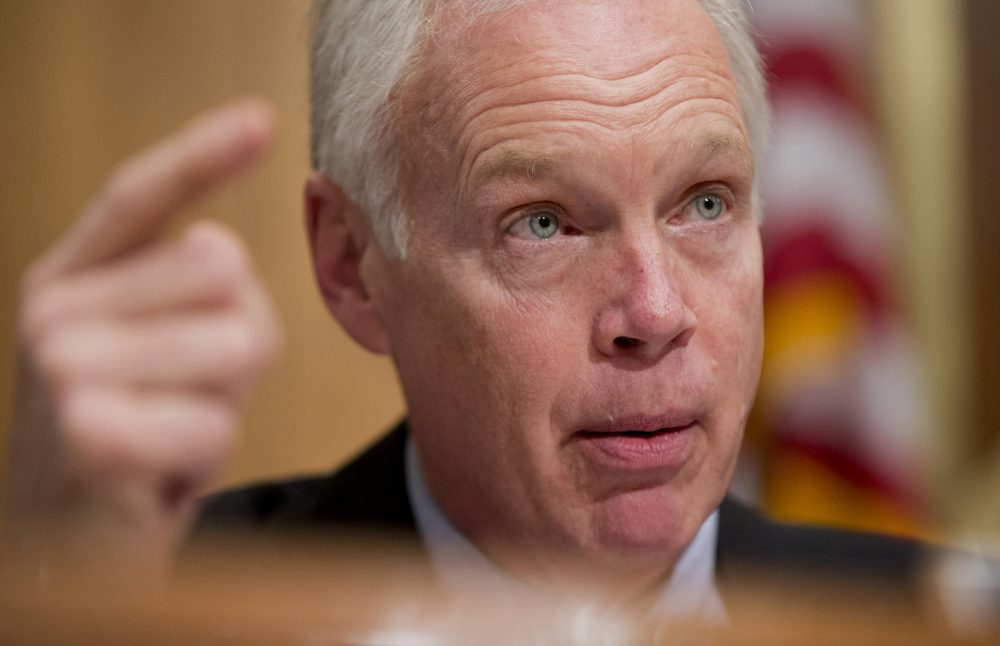 Sen. Ron Johnson, R-Wis., during a subcommittee hearing in January 2016 on Capitol Hill in Washington. (Manuel Balce Ceneta/AP)