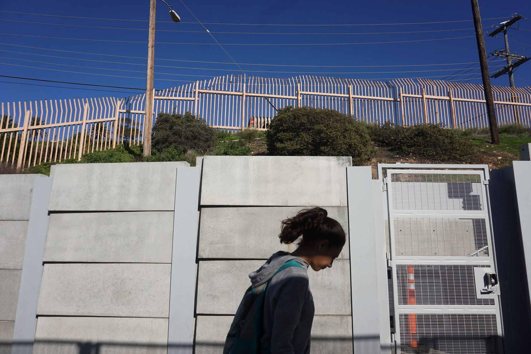 A view of the U.S.-Mexico border wall on Jan. 25, 2017 in San Ysidro, Calif. (Sandy Huffaker/Getty Images)