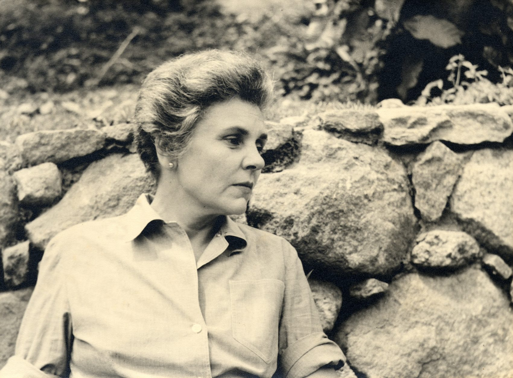 Poet Elizabeth Bishop in Brazil in 1955. (Courtesy Houghton Mifflin)