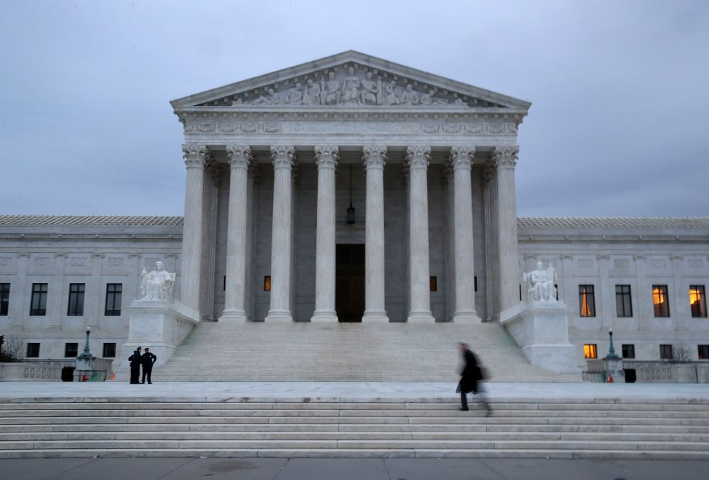 A man walks up the steps of the U.S. Supreme Court on Jan. 31, 2017 in Washington. (Mark Wilson/Getty Images)