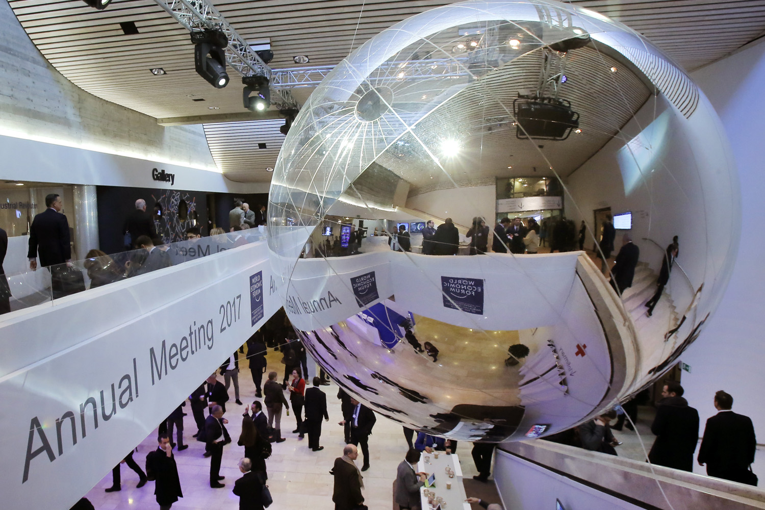 Inside view at the World Economic Forum in Davos, Switzerland. (Michel Euler/AP)