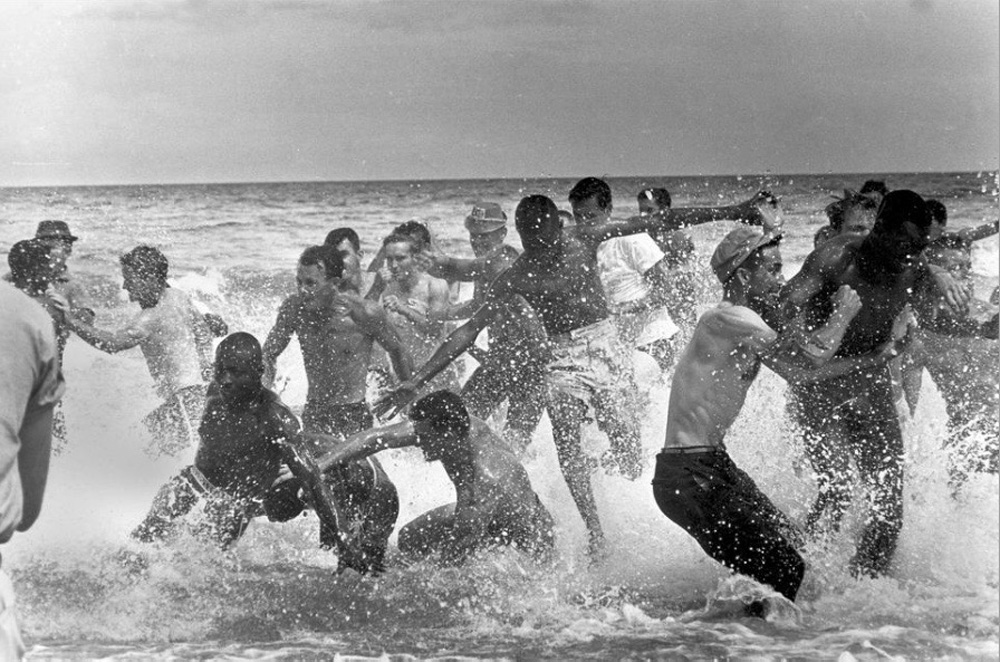 Protesters take to St. Augustine beach in Florida in 1964. (Courtesy Clennon L. King)