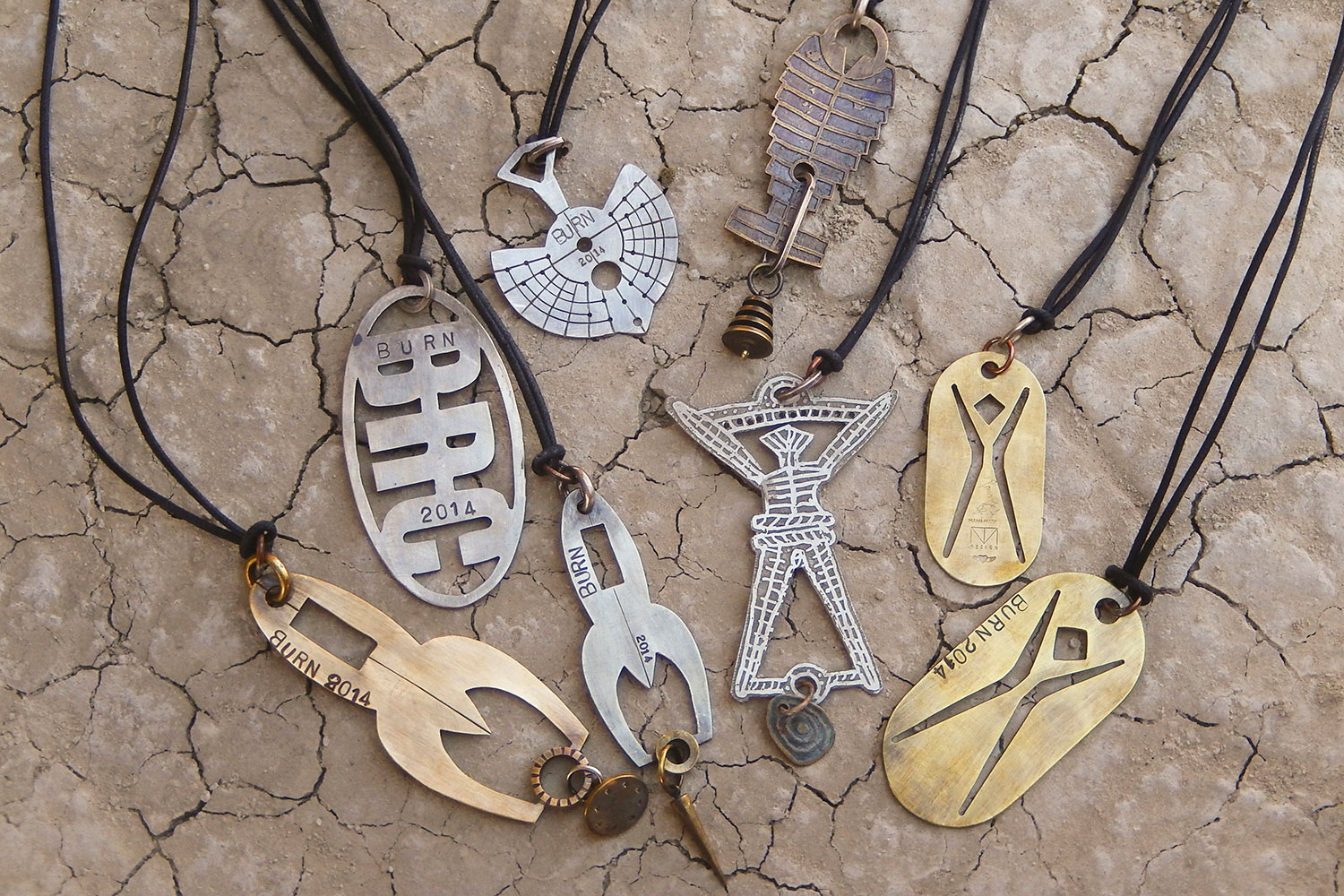 The jewelry of burning man comes to fuller craft museum the artery thomas manns pendants courtesy george postfuller craft museum aloadofball Gallery