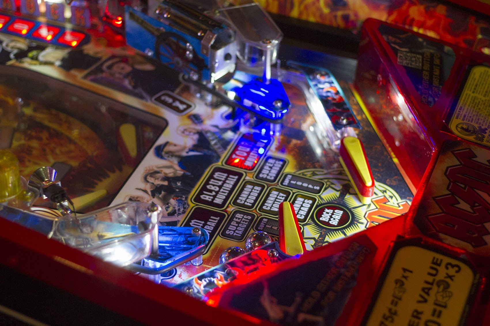 AC/DC pinball machine. (Joe Difazio for WBUR)