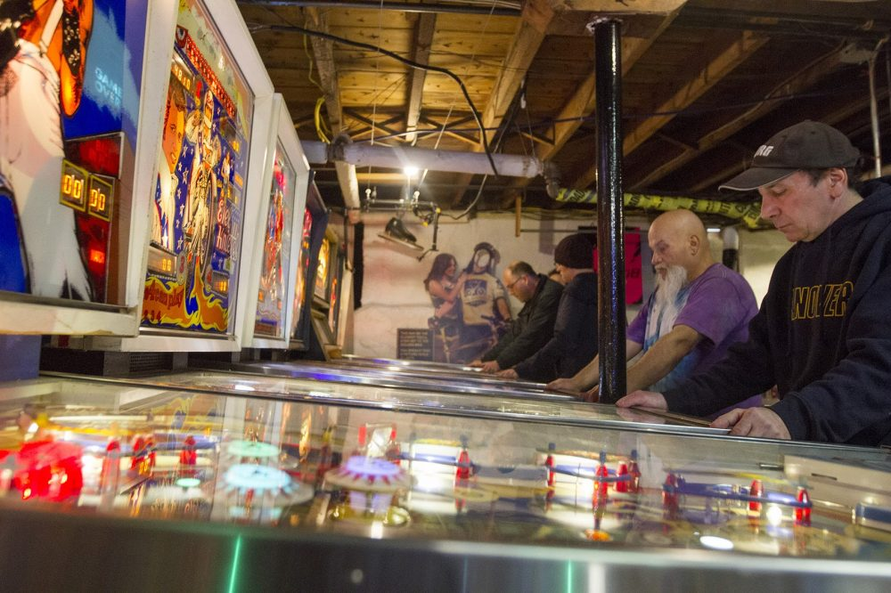 Wicked Pissa Pinball Pit in Wakefield (Joe Difazio for WBUR)