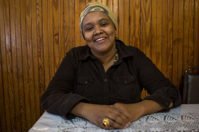 Somali refugee Deeqo Jibril is running for Boston City Council. (Jesse Costa/WBUR)