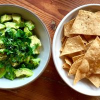 Kathy's chunky Oscar guacamole. (Kathy Gunst for Here & Now)